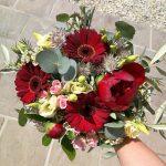 Grünwerkstatt Brautstrauß rot
