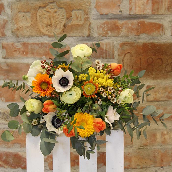 Grünwerkstatt Blumenstrauß orange weiß