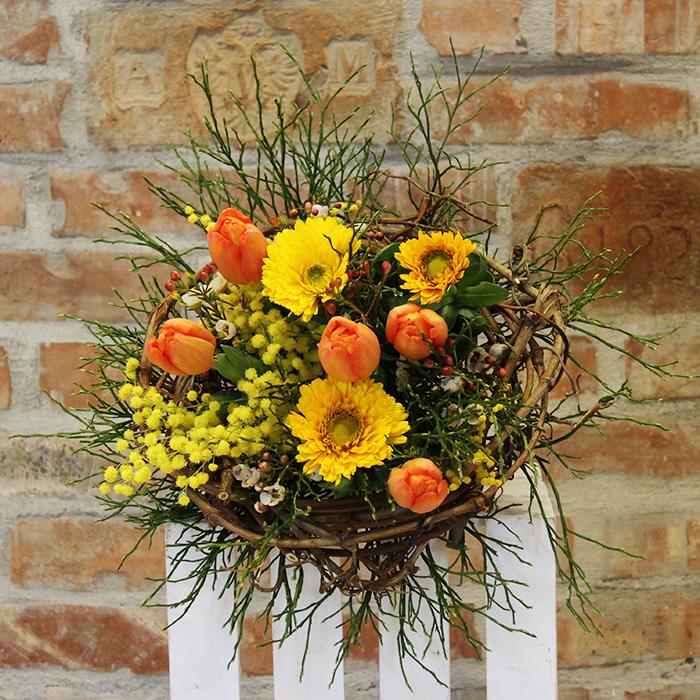Grünwerkstatt Blumenstrauß orange gelb