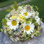 Grünwerkstatt Brautstrauß weiß gelb
