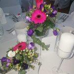 Grünwerkstatt Tischschmuck pink und lila