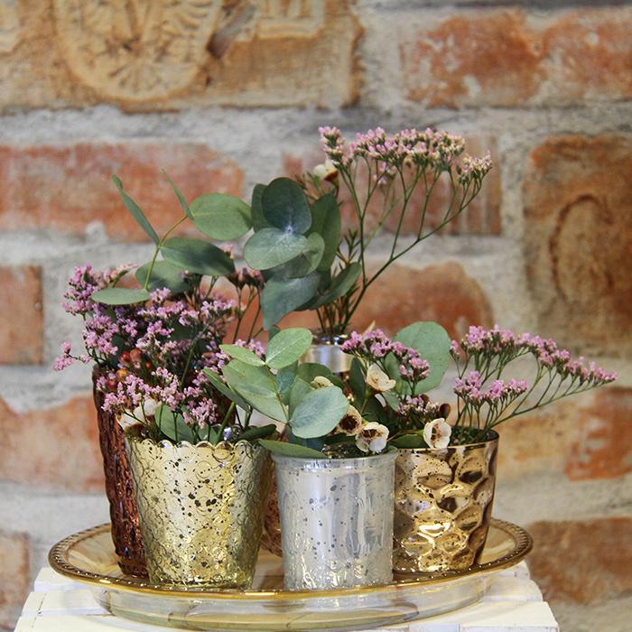 Grünwerkstatt Blumenstrauß Dekovasen mit Pflanzen