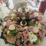 Grünwerkstatt Tischschmuck rosa weiß