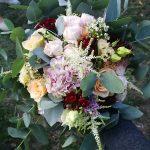 Grünwerkstatt Brautstrauß rosa weiß
